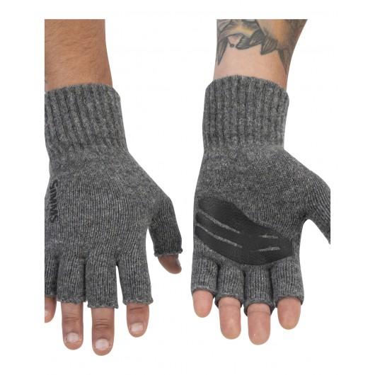 Wool ½ Finger Glove Steel...