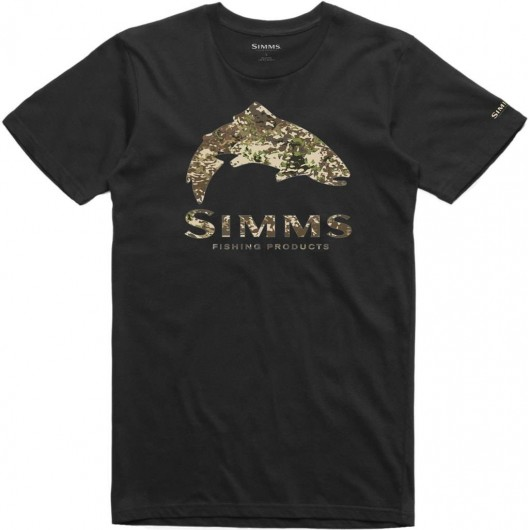 T-Shirt Trout River Camo Simms