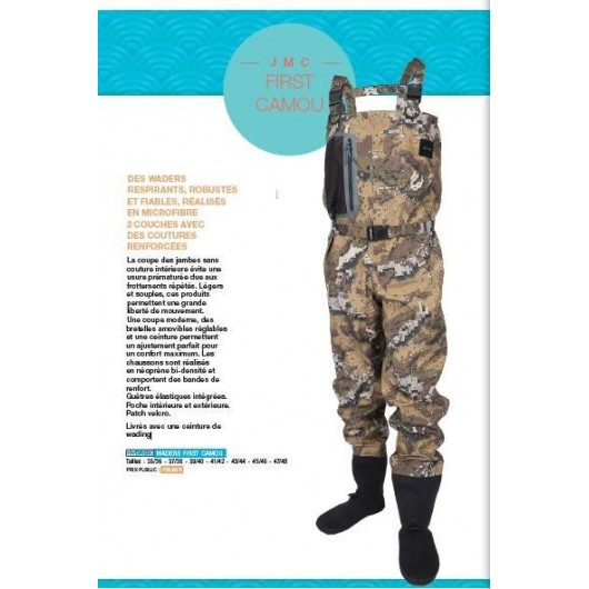 Waders HYDROX First Camou JMC